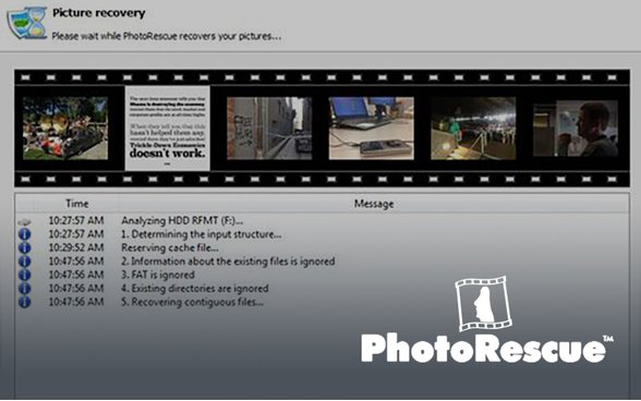 el programa PhotoRescue
