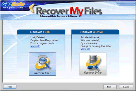 el programa Recover My Files