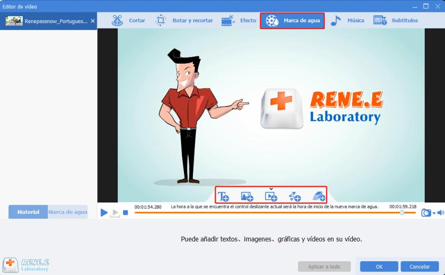 editar videos con renee video editor pro